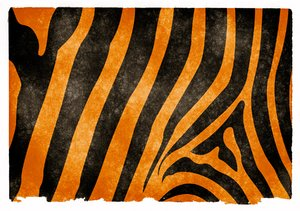 Tiger Stripes Grunge Papel